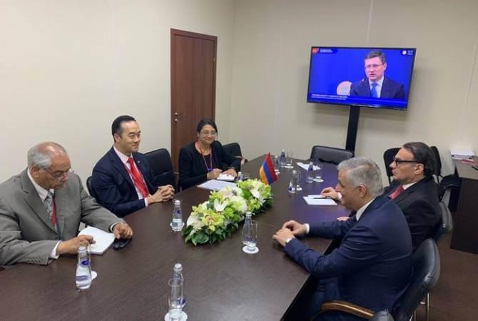Вице-премьер Мгер Григорян встретился со старшим госминистром торговли и промышленности Сингапура