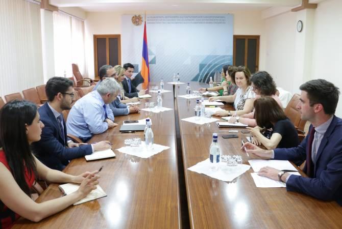 Министр экономики Армении принял делегацию Французского агентства развития