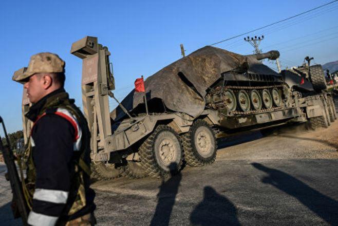 Турецкие оккупанты вошли в сирийский город Саракиб
