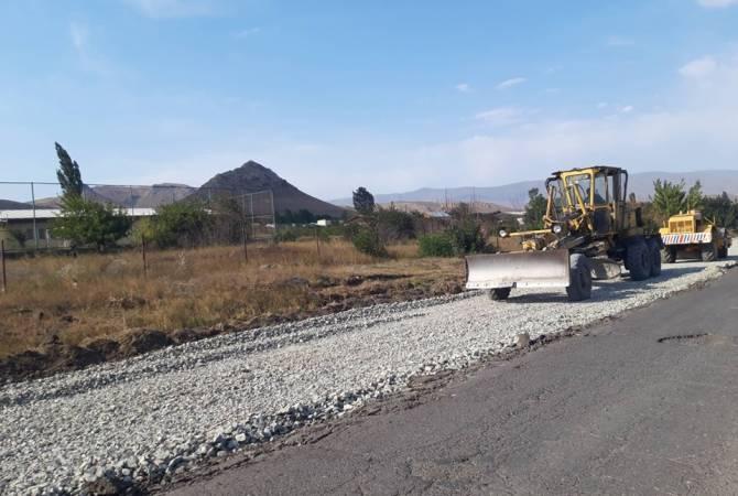 На дороге граница Турции – Ванадзор – Ташир – граница Грузии проводятся ремонтные работы