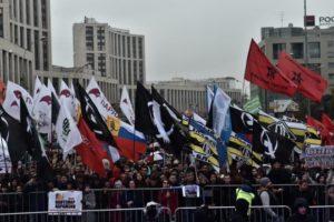 В митинге за освобождение политзаключенных в Москве собрались 20 тысяч человек