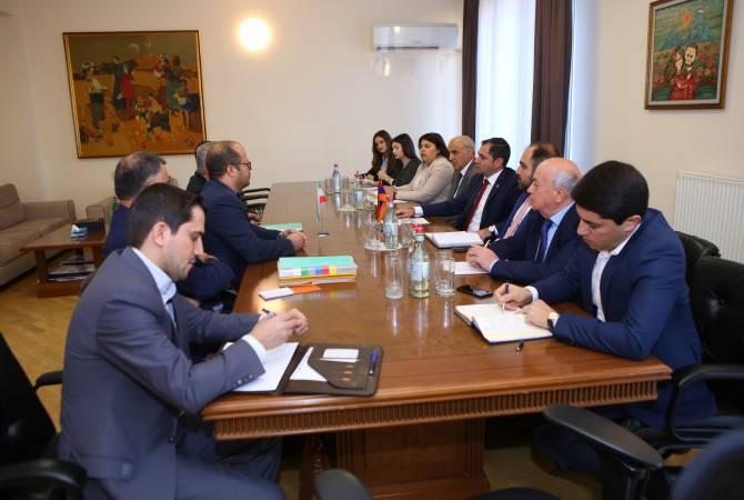 Сурен Папикян принял министра энергетики Ирана Резу Ардаканиана