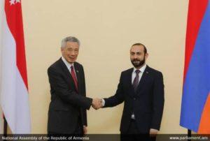 Спикер парламента Армении принял принял премьер-министра Сингапура