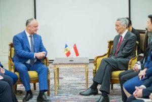 Президент Молдовы в Ереване встретился с премьер-министром Сингапура