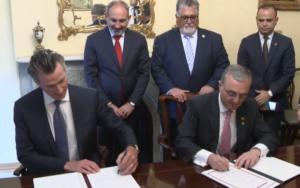 В Нью-Йорке подписано рамочное соглашение о сотрудничестве между Арменией и Калифорнией