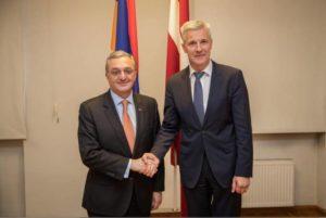 Глава МИД Армении и вице-премьер Латвии обсудили перспективы сотрудничества