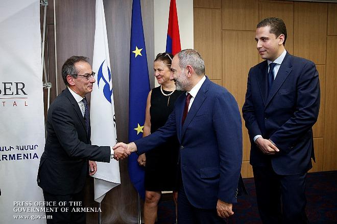 Премьер-министр Армении присутствовал на церемонии открытия частного акционерного инвестиционного фонда