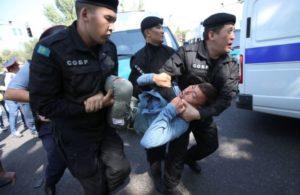 Антиправительственные митинги в Казахстане, задержаны около 60 человек