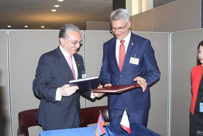 Армения и Мальта подписали соглашение об исключении двойного налогообложения доходов