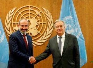 Премьер-министр Пашинян встретился с генсеком ООН