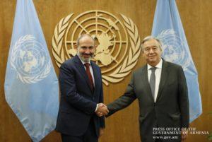 ООН полностью поддерживает повестку реформ Армении: Пашинян встретился с Гутерришем