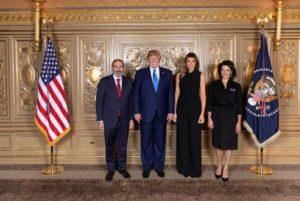 Никол Пашинян и Анна Акопян приняли участие приеме от имени Дональда Трампа