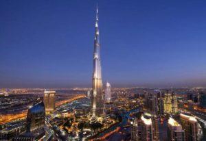 Самый высокий небоскреб в мире «окрасили» в цвет армянского флага