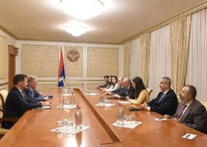 Президент Арцаха встретился с конгрессменом Фрэнком Паллоне