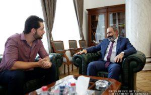 Премьер-министр Армении принял Алексиса Оганяна