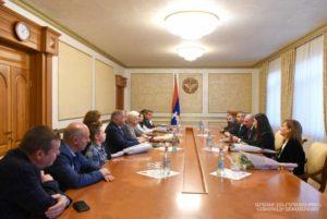 Президент Арцаха провел встречу с членами делегаций Бельгии, Кипра и Чехии