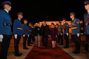 Президент Армении прибыл в Сербию