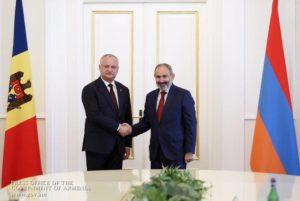 Пашинян: Мы должны укреплять торгово-экономические и политические связи между Арменией и Молдовой