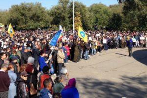 В Элисте несколько тысяч человек пришли на митинг против назначения мэром выходца из ДНР