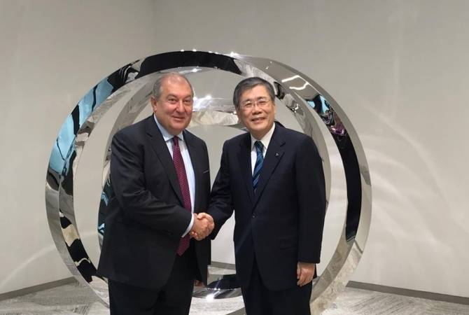 """Президент Саркисян пригласил руководство компании """"Mitsubishi Heavy Industries"""" посетить Армению"""
