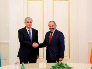 Токаев: Казахстан хочет развивать сотрудничество с Арменией в различных сферах