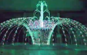 Световой фонтан Зеленый 9 x 9 х 4 м