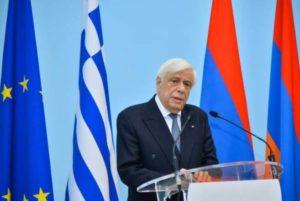 Президент Греции самым большим достижением армянской и греческой диаспор считает связь с родиной