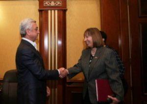 Серж Саргсян встретился с послом США