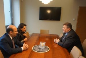 """Глава МИД Литвы высоко оценил инициированную Анной Акопян кампанию """"Женщины во имя мира"""""""