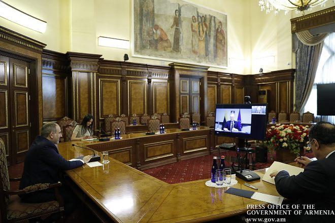 Премьер-министр Армении провёл видеовстречу с президентом Литвы