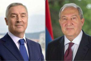 Президенты Армении и Черногории обсудили опыт сотрудничества двух стран с ЕС