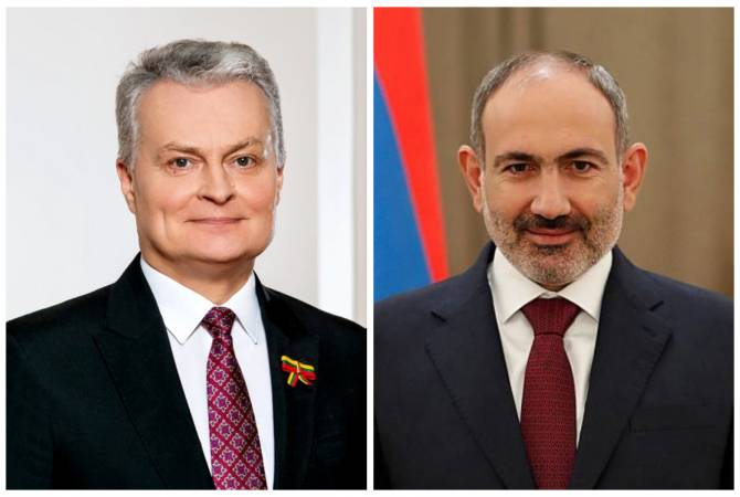 Президент Литвы поздравил Пашиняна с Днем рождения и пожелал ему скорейшего выздоровления