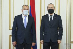 Спикер парламента Армении провел встречу с и.о. председателя Конституционного суда