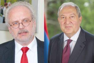 Армен Саркисян провел телефонный разговор с президентом Латвии