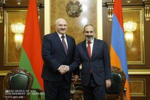 В Минске стартовала встреча Никола Пашиняна и Александра Лукашенко