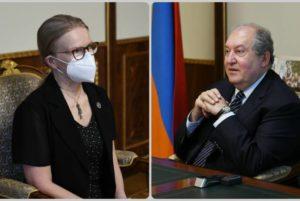 Президент Армен Саркисян принял президента Американского университета Армении