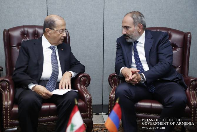 Премьер-министр Армении провел телефонный разговор с президентом Ливана