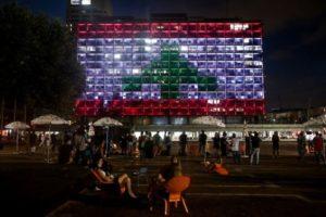 Мэрия Тель-Авива будет подсвечена в цвета флага Ливана