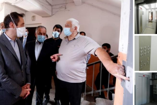 Мэр Еревана посетил жилые дома, где уже появились новые лифты