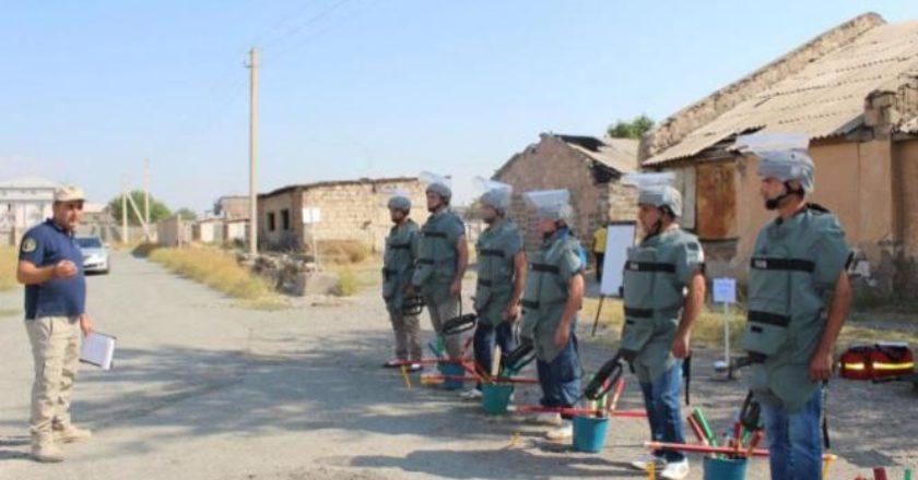 Отбывающие в Сирию армянские саперы 6-й смены прошли производственную практику
