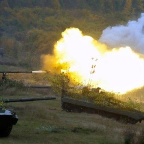 В одной из воинских частей 5-ого армейского корпуса прошли учения с боевыми стрельбами