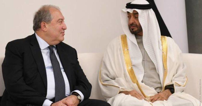 Наследный принц Абу-Даби поздравил президента Армении с Днем независимости
