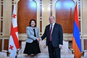 Грузия поддерживает развитие отношений с Арменией – Саломе Зурабишвили