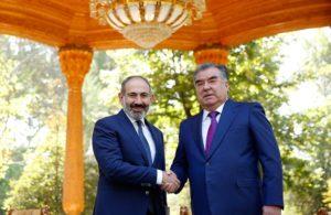 Послание премьер-министру Николу Пашиняну от президента Таджикистана Эмомали Рахмона