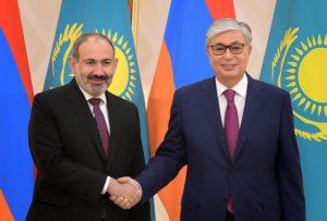 Поздравления Николу Пашиняну направил президент Республики Казахстан Касым-Жомарт Токаев