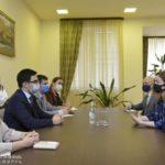 Министр юстиции Армении принял временного поверенного в делах посольства Великобритании