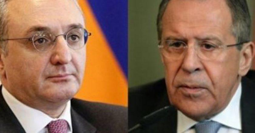 Мнацаканян и Лавров обсудили ситуацию в зоне нагорно-карабахского конфликта