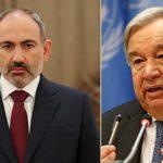 Премьер-министр Пашинян провел телефонный разговор с генеральным секретарем ООН