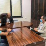 Артак Бегларян встретился с главой миссии МККК в Нагорном Карабахе Бертраном Ламоном