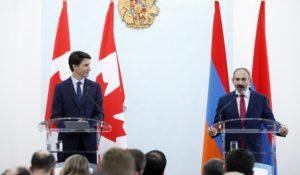 Пашинян поблагодарил Трюдо за приостановку экспорта товаров военного назначения в Турцию